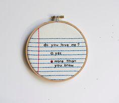 cross stitch notebook from rugglesstitch $31 #etsy #notebook #crush