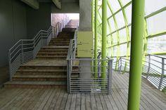 Docks en Seine Signage by Nicolas Vrignaud - Dezeen Concrete Structure, Wayfinding Signage, Dezeen, Paris, Shopping Center, School Fashion, The Good Place, Building, Green Algae