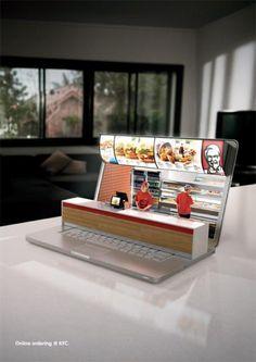 KFC promocionando su servicio online.