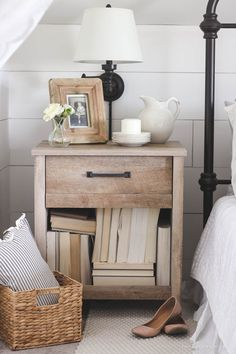 Blogging from my Better Half - Style Challenge | A Husband vs. Wife Style Challenge... whose nightstand will win?