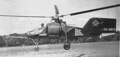 """The Flettner Fl 282 Kolibri (""Hummingbird"") is a single-seat open cockpit intermeshing rotor helicopter, or synchropter, produced by Anton Flettner of Germany. According to Yves Le Bec, the Flettner Fl 282 was the world's first series production helicopter."""