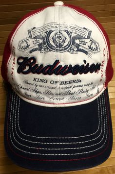 Budweiser King of Beers Fitted Cap Size L/XL by CoryCranksOutHats on Etsy