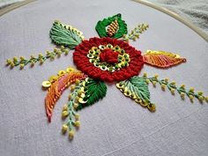 Embroidery Stitches Blouse along with Embroidery Thread Rayon Vs Polyester around Embroidery Designs Gowns Zardozi Embroidery, Hand Embroidery Videos, Hand Embroidery Flowers, Hand Embroidery Tutorial, Hand Work Embroidery, Simple Embroidery, Learn Embroidery, Hand Embroidery Stitches, Hand Embroidery Designs