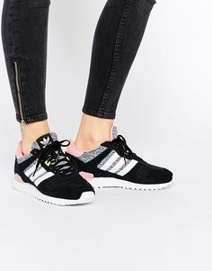 Image 1 - Adidas Originals - ZX - Baskets - Gris et rose