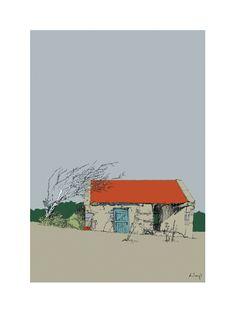 Corrrigan's Cottage by Dominic Lloyd on ArtClick. Irish Art, Room Paint, Online Art Gallery, Artwork Prints, Ireland, Coastal, Original Paintings, Art Pieces, Landscape
