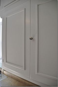 adding trim to create dimension on cabinet door | kitchen ideas ...
