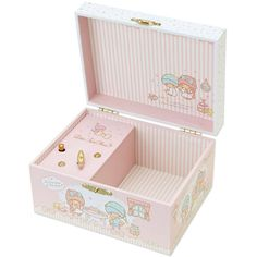Little Twin Stars Kiki Lala Orgel Music Box Jewelry Box Room Series... ❤ liked on Polyvore featuring home, home decor, jewelry storage, star home decor and paper jewelry boxes