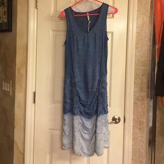 BOHO denim dress denim dress with synched bottom! la pink Dresses Midi