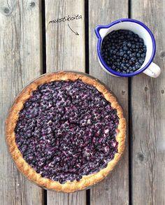 Finnische Küche: Mustikkapiirakka ( Blaubeertarte )