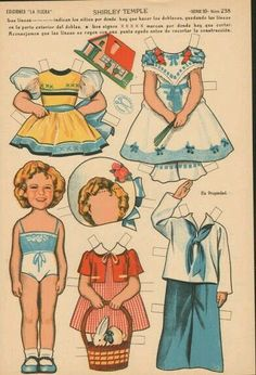 Vintage Paper Dolls Shirley Temple
