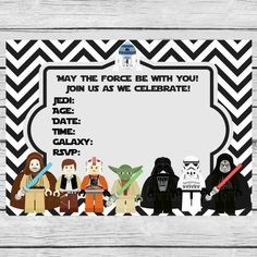 lego star wars party invitations printable free - Google Search