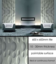 Moon 3D Decorative Plaster Wall Panels (113K)