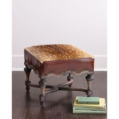 Old Hickory Tannery Neval Hairhide Ottoman
