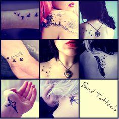 Bird Tattoos... even though I hate birds