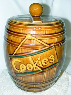 Vintage McCoy Cookie Jar Barrel