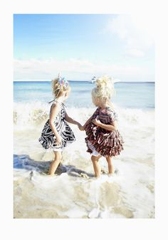Strong prints and ruffled skirts from How to Kiss a Frog beach fashion for  girlswear summer 2015