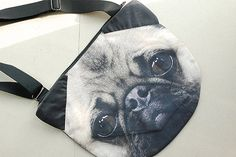 Pug, pug LARGE cross body, pug tote bag, pug lover tote, dog print tote, pet portrait bag, pet lover bag, animal portrait bag, CB-027