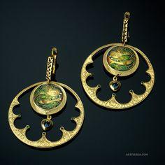 Earring - Cloisonne Enamel