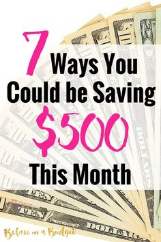 There are so many different ways you can save money this month. I'm sharing 7 things I did to save money that were really easy to do. If you want to make more money, some of these tips will also really help you. Don't worry - non Save Money On Groceries, Ways To Save Money, Make More Money, Money Tips, Money Saving Tips, Extra Money, Money Savers, Groceries Budget, Extra Cash