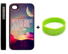 BUNDLE! Apple iPhone 4 4G 4S PERKS OF BEING A WALLFLOWER QUOTE NEBULA GALAXY Design Retro Hipster Design + Unique Silicone Wristband BLACK HARD PLASTIC SLIM FIT Case Cover Skin Mobile Phone Accessory CASE REPUBLIC PACKAGING by Generic, http://www.amazon.com/dp/B00BTZJ5B0/ref=cm_sw_r_pi_dp_72hurb04FAJ36