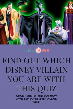 When we think about Disney movies, we usually focus on the good guys: disney pri. Princess Quizzes, Disney Princess Quiz, Disney Quiz, Best Villains, Disney Villains, Disney Princesses, Disney Villain Costumes, Disney Halloween Costumes, Kid Movies