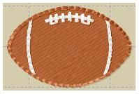 MINI FOOTBALL- Use it with childs initial- can be used on a personalized pillowcase- many great uses for this design