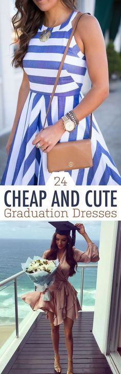 Cheap and cute graduation dresses for your big day! Whether you prefer white, floral, lace or crochet dresses, these are the perfect dresses for graduation!