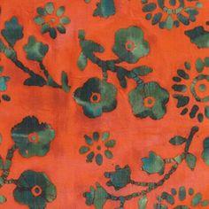 Pretty-Posies-Contrast-Tie-Dye-50s-Cotton-Batik-Fabric-Craft Orange Quilt, Fabric Crafts, Contrast, Tie Dye, Quilts, Pretty, Cotton, Painting, Art