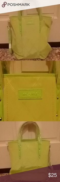 Vera Bradley Preppy Poly Satchel Brand new, never used, Citrine color, can use handles or shoulder strap, perfect for Spring or Summer Vera Bradley Bags Satchels