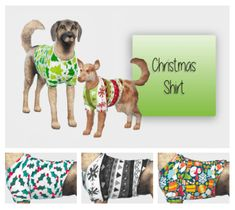 Dog Christmas Shirt for The Sims 4 by Simiracle