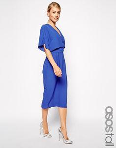 ASOS TALL Midi Dress With Obi Belt
