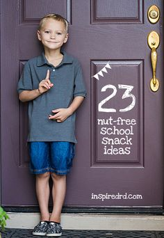23 Nut-Free Snack Ideas for School from inspiredrd.com #peanutfree #glutenfree