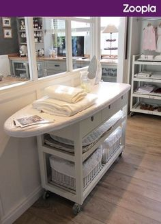 Ironing board storage. Seen on Zoopla. Like