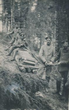 Foto aus einer Serie von Bildern des ersten Weltkriegs in der Zeit 1914 - 1918