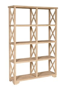 Double X Sided Bookcases