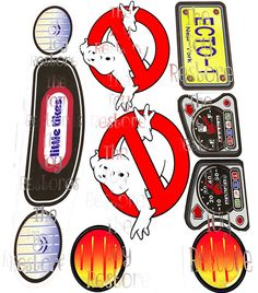 New Replacement Decals Stickers for Vtg Little Tikes Cozy Coupe Car Ghostbusters  Choice of models: vintage 80s, 90s version, and the 30th anniversary version with the eyes.