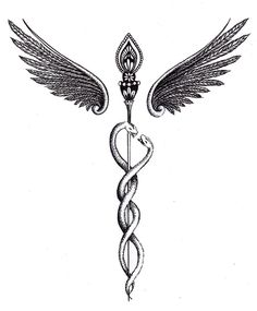 Caduceus Tattoo by Tiffanie-Kieny