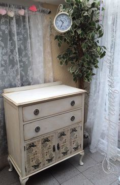 Vintage French Style TALLBOY CUPBOARD with DRAWERS ⭐delivery Available ⭐