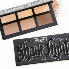 Check out Kat Von D's new contour palette, Shade + Light, inspired by her work as a tattoo artist. Check out Kat Von D's new contour palette, Shade + Light, inspired by her work as a tattoo artist. Le Contouring, Light Contouring, Kat Von D Makeup, Kat Von D Eyeshadow, Makeup Brands, Best Makeup Products, Contour Makeup Products, Beauty Products, Airbrush Makeup