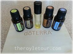 Dealing with Hashimoto's using essential oils | The Royle Tour - 12 drops of Clove - 12 drops of Peppermint -12 drops of Lemongrass - 10 drops of Myrrh (some people use Frankincense instead) - If you have sensitive skin, add some fractionated coconut oil or another carrier oil