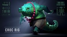 Croc Rig Demo on Vimeo Character Rigging, Unity 3d, Zbrush, Fantasy Creatures, Rigs, Animated Gif, Maya, Concept Art, Animation