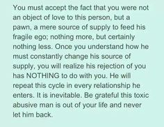 IT'S NOT YOU...IT WAS NEVER YOU...you did nothing wrong and a whole lot right. It's that narcissists go through a cycle in their relationships.... idealize (love bombing), devalue and abuse, then discard....again and again. You completed the cycle, so the N was done with you...but will likely try to come back (hoovering) time and time again, so they can repeat the cycle. Just remember, if the N is treating you good again, it's just the first part of the narcissistic cycle.