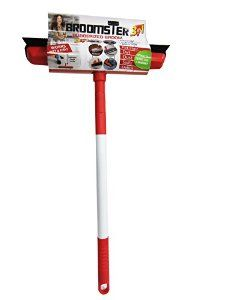 """Broomster Rubber Broom, Squeegee, Telescopic Handle Extended to 46.5"""", Versatile All Purpose Cleaning Tool for Home and Pets #rubberbroom #broomster"""