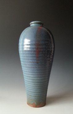 """Chinese Jun Kiln Vase. 11 3/8"""" H."""
