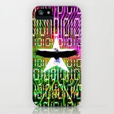 Bald eagle & digital Color mix iPhone & iPod Case by seb mcnulty - $35.00