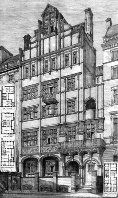 1875 - New House, Queens Gate, South Kensington, London - Archiseek.com
