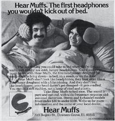 """Hear Muffs, """"The first headphones you wouldn't kick out of bed."""""""