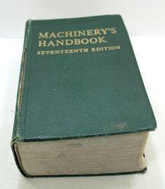 Machinery's Handbook - 17th edition 1966 Machinery's Handbook, Seventeen, Store, Books, Ebay, Livros, Tent, Shop Local, Larger