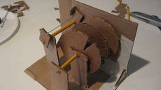 A DIY cardboard combination lock! This would be a great project for an older child who is just learning about mechanics!