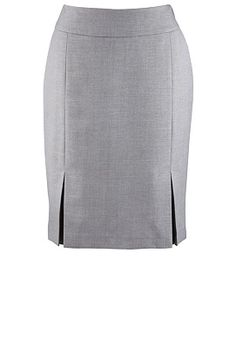 Kick Pleat Skirt from Avenue in Grey Elegant Dresses Classy, Classy Dress, Skirt Outfits, Dress Skirt, African Fashion Dresses, Fashion Outfits, Pleated Skirt Pattern, Formal Pants Women, Big And Tall Outfits